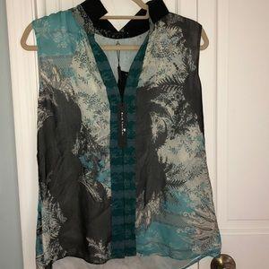 New Elie Tahari detailed blouse (NWOT)